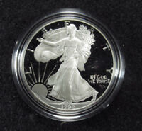 1992 PROOF AMERICAN SILVER EAGLE BOX/COA