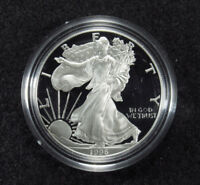 1996 PROOF AMERICAN SILVER EAGLE BOX/COA