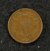 1872 TWO CENT PIECE VF  ORIGINAL COIN KEY DATE
