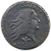 1793 S 8 R3 ANACS F12 DETAILS WREATH CENT COIN 1C