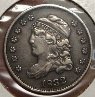 1832 CAPPED BUST HALF DIME LY FINE NICE TYPE COIN  1205 20