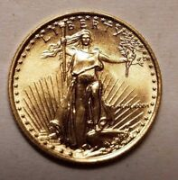 1986 1/10 OZ GOLD EAGLE $5 COIN FIRST YEAR OF ISSUE