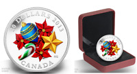 1 OZ 99.99 FINE SILVER COIN   HOLIDAY SEASON WITH VENETIAN GLASS CANDY CANE 2013