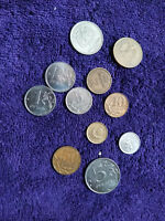 LOT OF 11 RUSSIAN COINS OCCP AND CURRENT SEE PHOTOS  COINS OLD