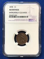 1898 INDIAN HEAD CENT AU DETAILS NGC  TONING