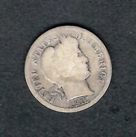 MJSTAMPSHOBBY 1916 US 10C BARBER DIME SILVER CIRCULATED   LOT1408