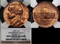 Click now to see the BUY IT NOW Price! USA ERROR   5C STRUCK ON 1C DOUBLE DENOMINATION   1979 NGC MS64  O008C