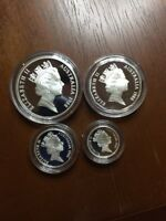 1988 STERLING SILVER 4 COIN PROOF SET ROYAL AUSTRALIAN MINT