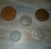 LOT OF 5 FOREIGN COINS