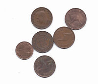 AUSTRALIA COPPER COINS 6 CENTS & 1 HALFCENT