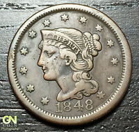1848 BRAIDED HAIR LARGE CENT     MAKE US AN OFFER   O3194