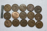 UK GB HALF PENNY'S COLLECTION ALL DIFFERENT A72 S26
