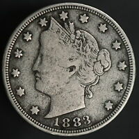 1883 LIBERTY V NICKEL  NO CENTS W/ STRONG DETAILS     8126