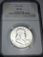 1960  FRANKLIN SILVER HALF DOLLAR  2639343 004 NGC BUSINESS MS65 UNCIRCULATED