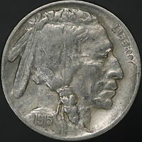 1915 P BUFFALO NICKEL  2 FEATHER & NO F VARIETY  HIGHER GRADE W/ FULL HORN  7743