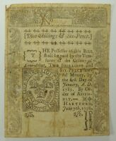 1776 TWO SHILLINGS & SIX PENCE CONNECTICUT COLONIAL CURRENCY    ARCHIVAL TAPE