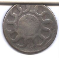 1787 FUGIO CENT   8 POINT STAR VARIETY      NICE SMOOTH TAN BROWN SURFACES