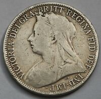 UK GREAT BRITAIN VICTORIA SILVER FLORIN 1900