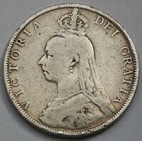 UK GREAT BRITAIN VICTORIA SILVER FLORIN 1888