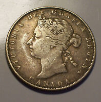 CANADA 1870 VICTORIA FIFTY CENTS 50 CENTS. 450 000 MINTAGE.