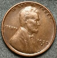 1935 S EXTRA FINE  EF EXTRA FINE BN LINCOLN WHEAT CENT PENNY. L901 FREE S&H