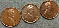 1935P 1935D 1935S EXTRA FINE  EXTRA FINE BN LINCOLN WHEAT CENTS L729 FREE S&H