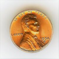 1954-D LINCOLN WHEAT EARS CENT  ICG MINT STATE 67 RED  IMPRESSIVE  SCARES 2