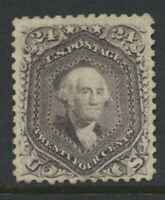 US 1867 24C F. GRILL LARGE PART O.G. SC 99 CAT $8500