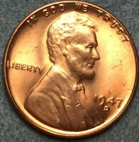 1947 D RD RED UNCIRCULATED LINCOLN WHEAT CENT PENNY L60 FREE SHIP
