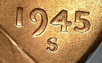 1945-S DDO DOUBLED DIE MINT STATE 65 RD LINCOLN CENT WHEAT CENT 162 ERROR SHIPS FREE