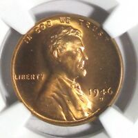 1946-D LINCOLN 1C, NGC MINT STATE 67 RD - SHARP RED HIGH-GRADE BEAUTY NONE HIGHER