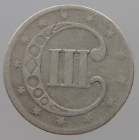UNITED STATES 3 CENTS 1852 SILVER   T20 255