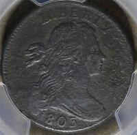 1803 PCGS VF DRAPED BUST LARGE CENT 1C COIN SMALL DATE LARGE FRACTION SHIPS FREE