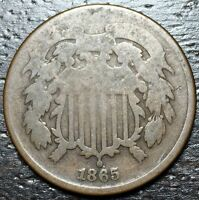 1865 2 CENT PIECE  --  MAKE US AN OFFER  Y8589