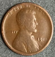 1911 D GOOD LINCOLN WHEAT CENT PENNY. L813 FREE SHIP
