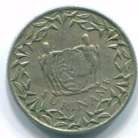 1962 SURINAME 10 CENT NICKEL COIN S13217