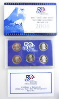 2008 US MINT 50 STATE QUARTER PROOF SET OK NM AZ AK HI W/ BOX & COA 5 COINS  C11