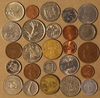 LOT OF 25 FOREIGN WORLD COINS NO DUPLICATES  LOT Y