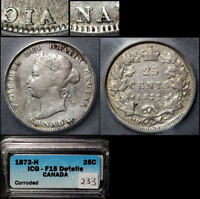 Click now to see the BUY IT NOW Price! ELITE COINS   25 CENTS   1872H A/V VICTORIA   TOP 5 EXAMPLE   F15  LX090