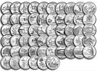 1999 2009 US STATE QUARTERS   TERRITORIES COMPLETE UNCIRCULATED SET OF 56 COINS