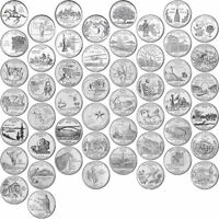 1999 2008 US STATE QUARTERS COMPLETE UNCIRCULATED COLLECTIBLE SET OF 50 COINS
