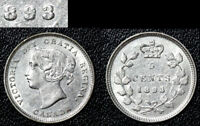 MARCH MADNESS   CANADA 5 CENTS   1893 REPUNCHED 9   WOW AU   G14