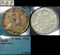 MARCH MADNESS   CANADA 10 CENTS   1903H REPUNCHED 3    F12  F306
