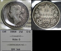 MARCH MADNESS   CANADA 25 CENTS   1880H WIDE 0   G6  F311