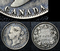 MARCH MADNESS   CANADA 25 CENTS   1874 INVERTED VS IN CANADA   F15  G26