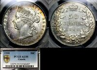 MARCH MADNESS   CANADA 50 CENTS   1900   PCGS AU55   STUNNING TONING  LX116