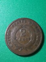 1866 SHIELD 2 CENTS BRONZE   US COIN