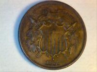 WELL STRUCK MINT STATE 1866 BROWN 2 CENT