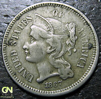 1867 3 CENT NICKEL PIECE  --  MAKE US AN OFFER  Y9019