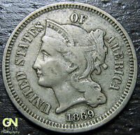 1869 3 CENT NICKEL PIECE  --  MAKE US AN OFFER  Y9037